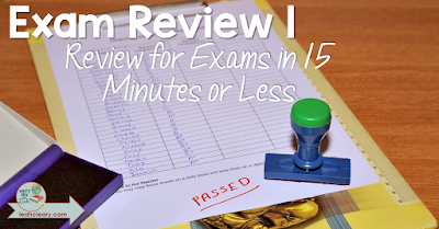 If you're a secondary teacher, then you know exams are not so fun. However, these three review games for exams can be done in 15 minutes or less! Click through to read how to review for exams with these activities.