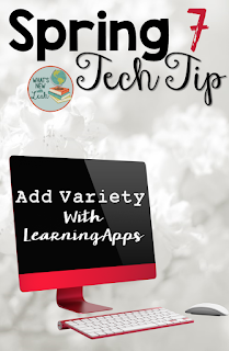 LearningApps is a free website that teachers can use to engage their students in interactive reviews, games, and quizzes. I'm sharing more about how LearningApps works and how you can get the most of out of it in my new Spring Tech Tip series post!