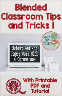 It's totally possible to still have your students complete pen-and-paper assignments while simultaneously using technology. If you use Chromebooks at your school, then this is a tutorial I've created for you to have your students turn in their written assignments to Google Classroom using a Chromebook. It's not as challenging as you might think, although it seems tricky at first!
