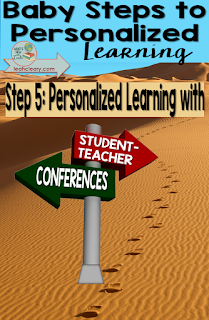 The student-teacher conference is vital to any personalized learning environment. The main benefit of personalized learning is student ownership. Click through to see one way to implement them!