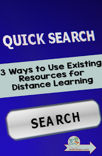 If you have a few basic tools, you already have the resources you need to provide students with quality distance learning opportunities. So you can end the resource scramble. Click through to see three ways to use existing resources for distance learning. There's a video tutorial and a cheat sheet to help!