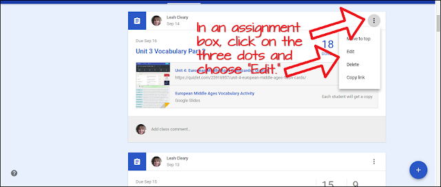 Blended learning is made easier with a new categorization feature in Google Classroom! Now when you create assignments in Google Classroom, you can categorize them by topic. Then, when students are searching for a topic, they'll be able to see all of the assignments--and only those assignments--for that topic! Making your life easier one feature at a time!