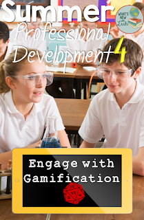 For my fourth post in my Summer Professional Development series, I'm talking about using gamification for classroom management. You might be wondering why I'm advocating games for behavior control, but that's not quite it. Click through to read how we can adapt gamification to the classroom.