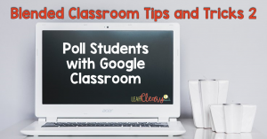 Look no further for a new way to poll your students using technology! Google Classroom provides an excellent polling tool that you can use quickly and efficiently. Plus, it sets up the opportunity for you to encourage a discussion reflecting the results--were they what students expected? Why or why not?