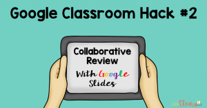 Turn your students into the teachers with this Google Classroom hack! Have your students collaborate on a Google Slides presentation that reviews all of the content from your unit (or year!). You can pair them off and assign each pair certain parts, and for assessing them you can create a rubric to make sure their slides meet the criteria. Easy as that!