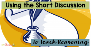 """Reasoning is a skill that I worry might be shoved in the background a little too often. In our current educational climate of standardized testing, multiple choice, and """"drill-and-kill,"""" how can we teach reasoning? In this post I describe how I use short discussions on a consistent basis to teach reasoning and thinking skills."""