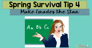 I'm coming at you with spring survival tip #4, which is all about keeping grades front and center. If you work with secondary students, like I do, then this is especially important, because students don't want to have to take courses again. So, I'm sharing my best AND easiest tips on grading at the end of the year and for making students away of their grades in your class. Click through to read!