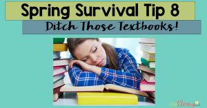 Ready for spring survival tip #8 for teachers? This time, I'm suggesting that you ditch the textbook - if you can. If your school has access to iPads, Chromebooks, or computers, then utilize those! It's easy to make a blended classroom environment, and your students will appreciate the change. Click through to get more ideas, including how to make QR codes!