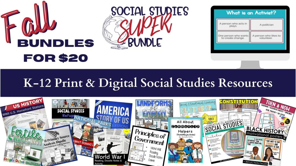 Amazing Social Studies Super Bundles are available only October 3rd-10th!